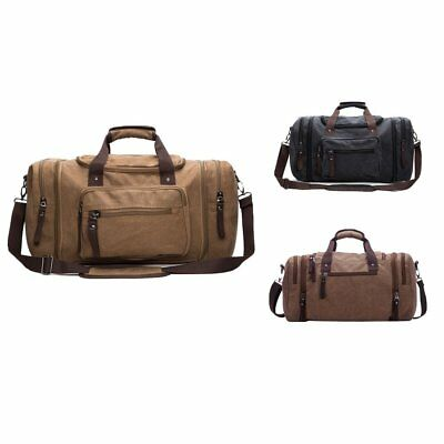 Large Men Canvas Travel Tote Bag School Travel Shoulder Handbag Casual Rucksack