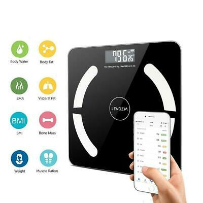 8in1 Bluetooth Bathroom Body Fat Scales BMI Bone LCD Weighing Scale Analyzer APP