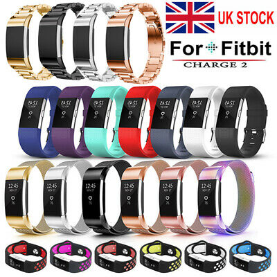 For Fitbit Charge 2 Replacement Band Stainless Steel Milanese/Silicone Strap UK