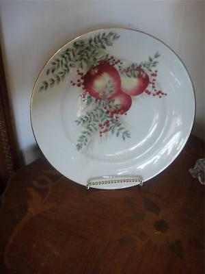 Lenox Williamsburg Boxwood And Pine Pear Accent Luncheon Plate New