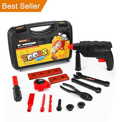 Kids Tool Set Cordless Drill Toolbox Toys for Boys for 3 4 5 6 7 8 Years Old Age