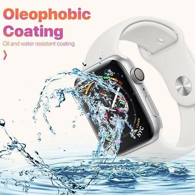 6D Full Screen Protector Tempered Glass For Apple IWatch Series 4/3/2/1 38&44MM