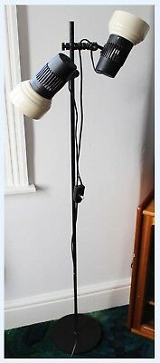 Vintage Mid Century 70's Light Floor Lamp Tension Pole Twin Spot Danish