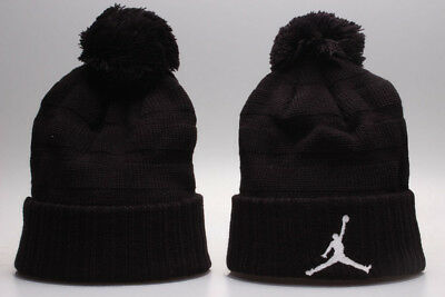 Michael Jordan NBA Basketball Hat Beanie Fan Winter Knit Lint Cap Black