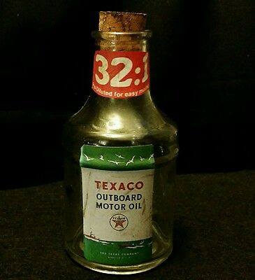 Vintage Style Texaco & Outboard Motor Oil  Bottle...Artist Handcrafted