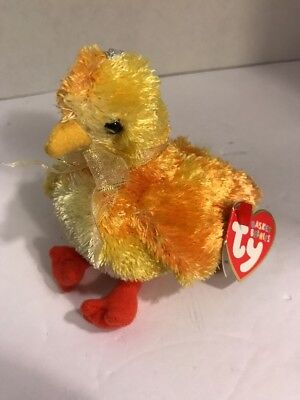 4ff27a73626 TY Basket Beanie Baby - CHICKIE the Chick (4.5 inch) - MWMT s Stuffed Animal