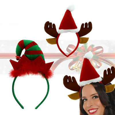 Kids Adult CHRISTMAS HEADBOPPER Headbands Head Bopper Novelty Fun Fancy Dress UK