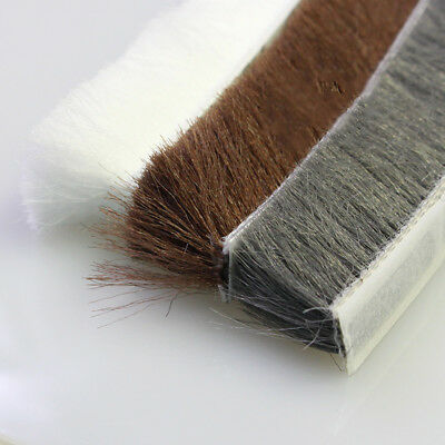 Self Adhesive Draught Excluder Brush Window Pile Weather Strip 10m 5/9/15/23mm