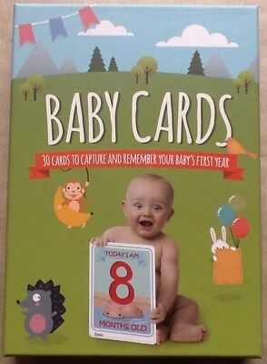 Baby Milestone Cards X 30 - 1st Year Memorable Moments Boy or Girl Baby Shower