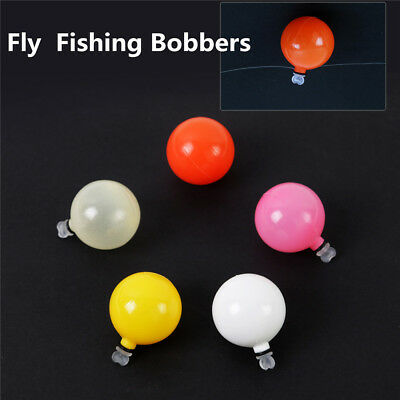 5 X Multicoloured Sight Bobs/strike Indicators For Fly Fishing-0.75 Inch Wide