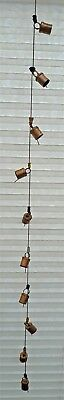 Hanging Cow Bells Chime Metal Fair Trade Home 110cm Fun Iron Decoration New
