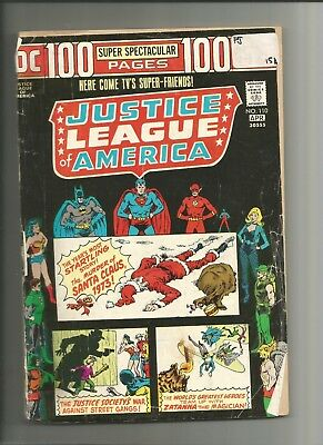 Justice League Of America #110 (1974)  DC Key Issue Comic 100 Pg Bronze Ag