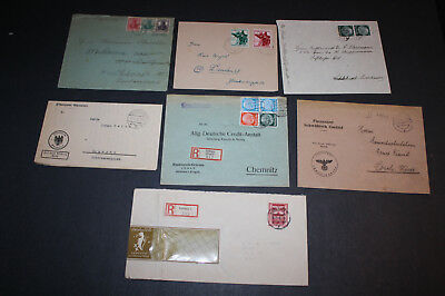 7 Germany 1930s & 1940s Covers, Some Better Stamps and Rare Slogan Cancels, #5