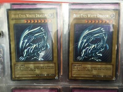 YuGiOh Card Collection Holo RARE Lot Vintage Trading Cards Blue Eyes White Drago