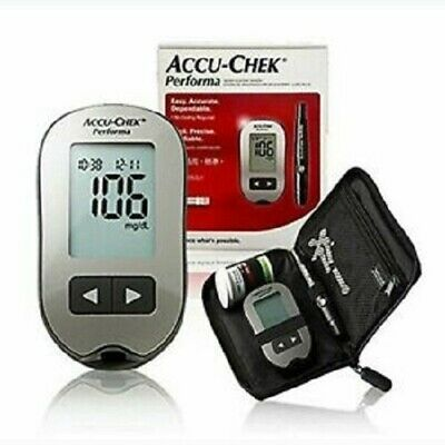 Accu Chek Performa Blood Glucose Meter and Lancing Device with 100 strips