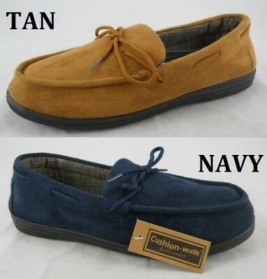 New Mens Slip On Faux Suede Mocasins Slippers Warm Comfy UK Sizes 7-12