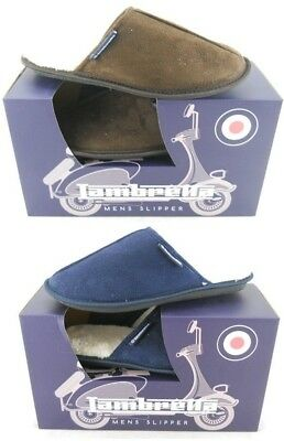 Mens Lambretta Warm Memory Foam Winter Flat Slippers Slip On Mules Shoes Sizes