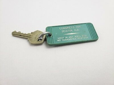 vintage Hotel Motel Key Fob Congress Inn Decatur Alabama Room 146