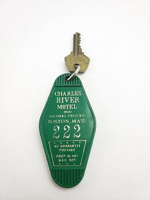 Vintage Hotel Key Fob Charles River Motel Boston Massachusetts Room 222