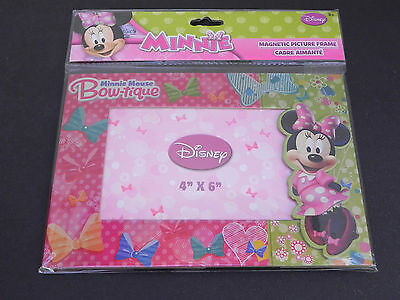 DISNEY'S MINNIE MOUSE BOW-TIQUE MAGNETIC PICTURE FRAME  4 X 6 NEW In Package