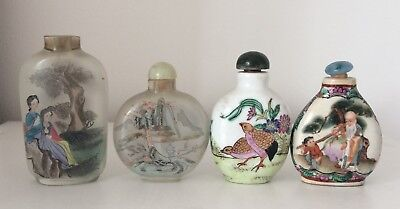 collection of 4 Chinese snuff bottles