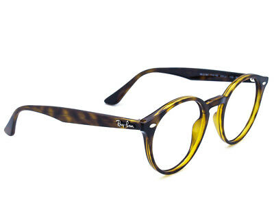 c791b314656 RAY BAN SUNGLASSES FRAME ONLY RB 2180 710 83 Tortoise Round Italy 49 ...