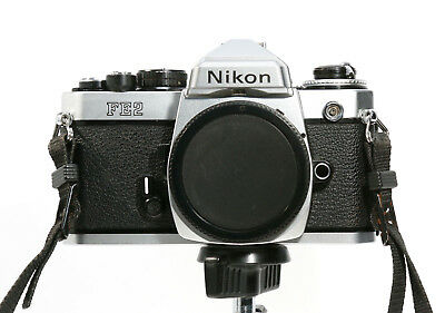 Nikon FE2 35mm Film Camera Body -Titanium Shutter - Clean,Good, & Film Tested