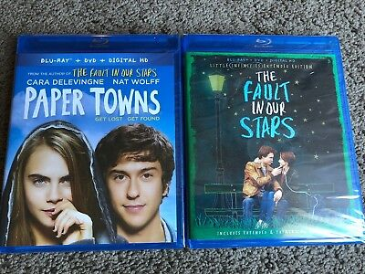 Paper Towns & Fault In Our Stars (Blu-ray/DVD) Both Include Digital HD Brand New