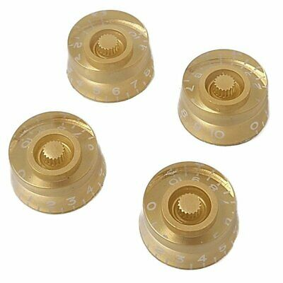 Gold Embossed Speed Knobs for Gibson Les Paul/Epiphone Guitar New 4 Pack