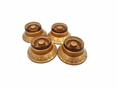 4 Gold Lp Guitar Speed Knobs Top Hat Bell Knobs Fits Les Paul