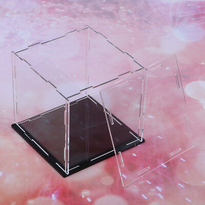 Perspex Cube 14cm Display Box Clear Acrylic Case Plastic Base Dustproof Toy