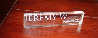 Personalized Acrylic NamePlate Desk Bar  Name plate