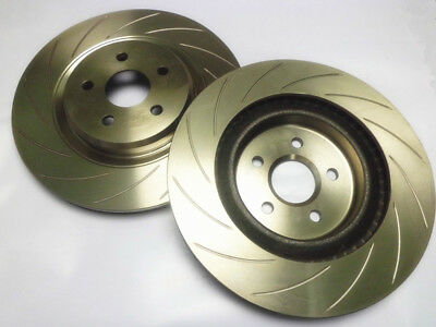 PAIR REAR SLOTTED DISC ROTORS (350mm): HOLDEN HSV COMMODORE VE 2006-2009 (LH+RH)