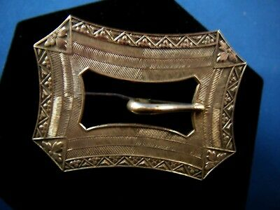 Beautiful Antique Vintage Victorian German Silver Woman Belt Buckle.