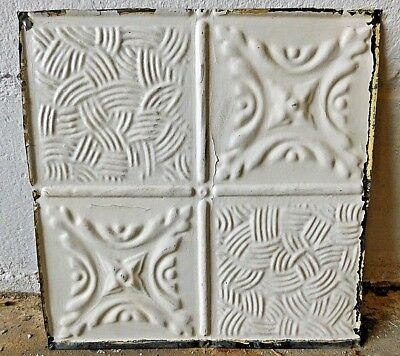 "Antique 1800's 12"" x 12"" TIN CEILING Tile VICTORIAN Multi Pattern Design ORNATE"