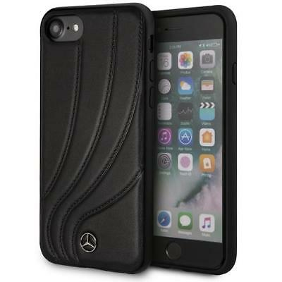 Genuine Licensed Mercedes-Benz Leather Black Case for iPhone 8 / 7 / 6s / 6
