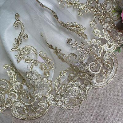Trimmings,Wedding 1m -White Applique Satin,Eyelet,Lace Ribbon Width 6 cm