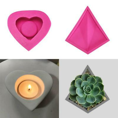 DIY Silicone Concrete Mold Mould Flower Pot Planter Cement Vase Soap Moulds Tool