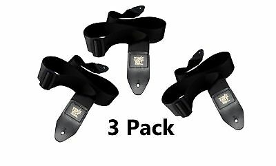 Black Guitar Strap Nylon 2 Inches Wide Pack of 3 Value Bundle Ernie Ball Polypro