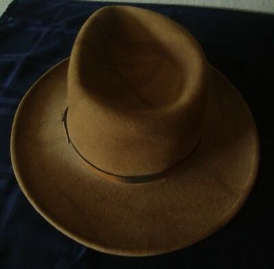 Indiana Jones Style Dorfman Pacific Wool Felt Fedora Hat S Small Brown 94a8af4e3e6e