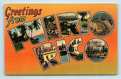 Greetings from PUERTO RICO Large Letter Postcard - G5