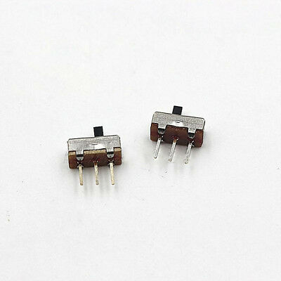 20 Pcs 2 Position SPDT 1P2T 3 Pin PCB Panel Vertical Slide Switch Pitch 2.35mm