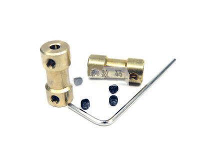 Brass Coupling 3mm-5mm For N20 Motor Connectors With M3 Screws And Wrench