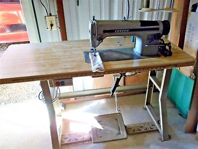 Consew 230 R-1 Industrial Sewing Machine Single Needle With Table, motor, extras