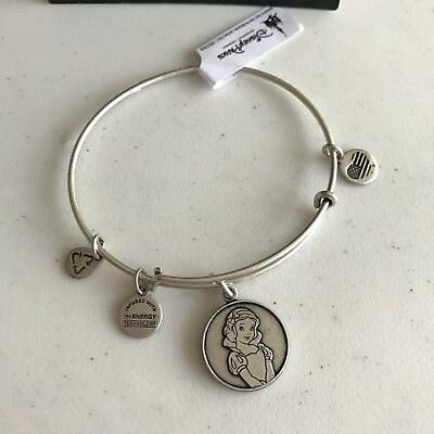 Alex & Ani Snow White Bracelet Bangle Princess Silver Disney Parks RETIRED NEW