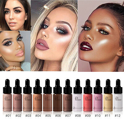 12 Colors Highlighter Liquid Shimmer Contour Brightener Beauty Makeup Cosmetic