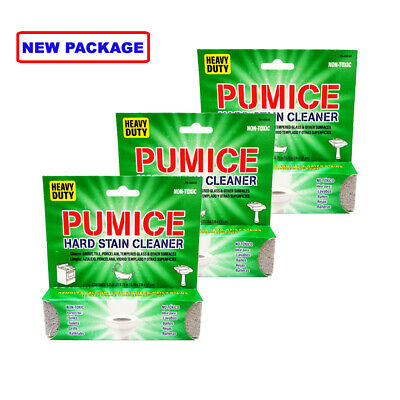 3 Pumie PUMICE Scouring Stick/Stone - Bathroom Toilet Tub Shower Cleaner Grill