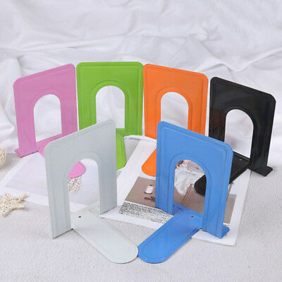 Non Skid Bookends Solid Metal Bookend Iron Support Holder Desk Stands For Books
