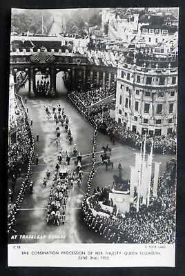 Coronation Procession of Queen Elizabeth, 1953, pub Tuck, Photo Card