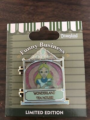 ALICE IN WONDERLAND Tea House Funny Business Disney disneyland LE Pin